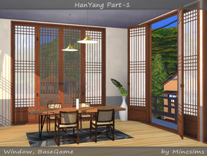 Sims 4 — HanYang Part-01 by Mincsims — This set is a kind of traditional Korean windows and doors. Originally, paper was