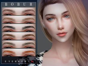Sims 4 — Bobur Eyebrows 34 by Bobur2 — Eyebrows for female 16 colors HQ I hope you like it