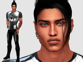 Sims 4 — Ruben Serra by DarkWave14 — Download all CC's listed in the Required Tab to have the sim like in the pictures.
