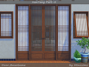Sims 4 — HanYang Part-02 by Mincsims — This set is a part of HanYang Windows and Doors Set. This set is a kind of