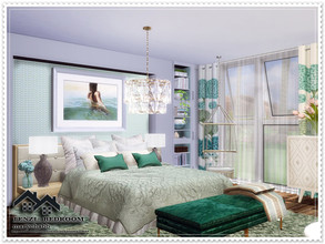 Sims 4 — TENZI - Bedroom by marychabb — I present a room - Bedroom, that is fully equipped. Tested. Cost: 15,499$ Size: