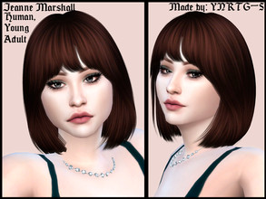 Sims 4 — Jeanne Marshall by YNRTG-S — Despite her feminine and luxurious style, Jeanne's greatest dream is to gain some