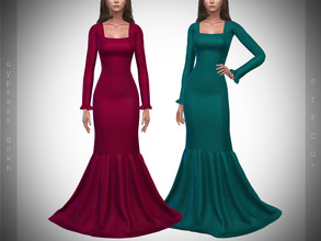 Sims 4 — Pipco - Cypress Gown. by Pipco — 12 Swatches Base Game Compatible New Mesh All Lods Specular and Normal Maps