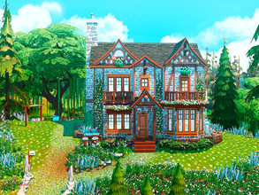 Sims 4 — Spring Cottage by Jane2Bunton — No CC House* Custom Content was not used. Located in the heart of the Willow