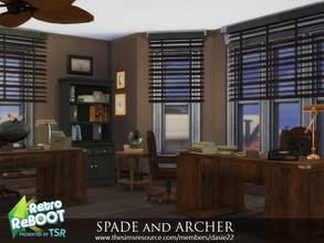 "Sims 4 — Retro ReBOOT SPADE and ARCHER by dasie22 — SPADE and ARCHER is an office inspired by ""The Maltese"