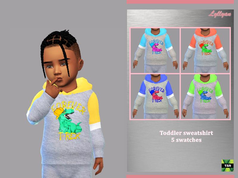 Sims 4 — Toddler sweatshirt Gabriel by LYLLYAN — Toddler sweatshirt 5 swatches Base game