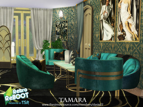 Sims 4 — Retro ReBOOT TAMARA by dasie22 — TAMARA is a hallway in art deco style. Please, use code bb.moveobjects on