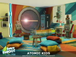Sims 4 —  Retro ReBOOT ATOMIC KIDS by dasie22 — ATOMIC KIDS is a children's room. Please, use code bb.moveobjects on