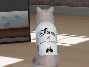 Sims 4 — Disney X Tommy Hilfiger t-shirt for cats by Aldaria — Disney X Tommy Hilfiger t-shirt for cats