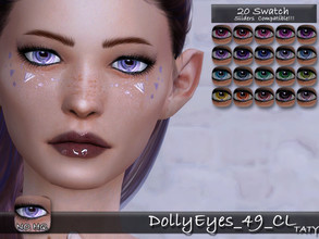 Sims 4 — [Ts4]Taty_DollyEyes_49_CL by tatygagg — - Female, Male - Human, Alien - Toddler to Elder - Hq Compatible -