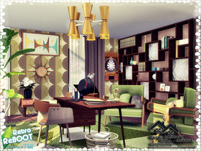 Sims 4 — Retro ReBOOT - RITA - Office by marychabb — I present a room - Living room, that is fully equipped. Tested.