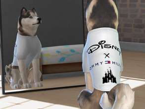 Sims 4 — Disney X Tommy Hilfiger t-shirt for big dogs by Aldaria — Disney X Tommy Hilfiger t-shirt for big dogs
