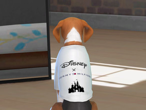 Sims 4 — Disney X Tommy Hilfiger t-shirt for little dogs by Aldaria — Disney X Tommy Hilfiger t-shirt for little dogs