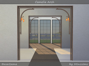 Sims 4 — Camelia Arch by Mincsims — The set consists of 6 packages. *Arch 4Tiles for medium wall, short wall *Arch 3Tiles