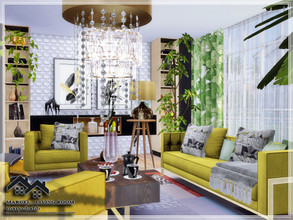 Sims 4 — MARCEL - Living Room by marychabb — I present a room - Living Room, that is fully equipped. Tested. Cost: 27,035
