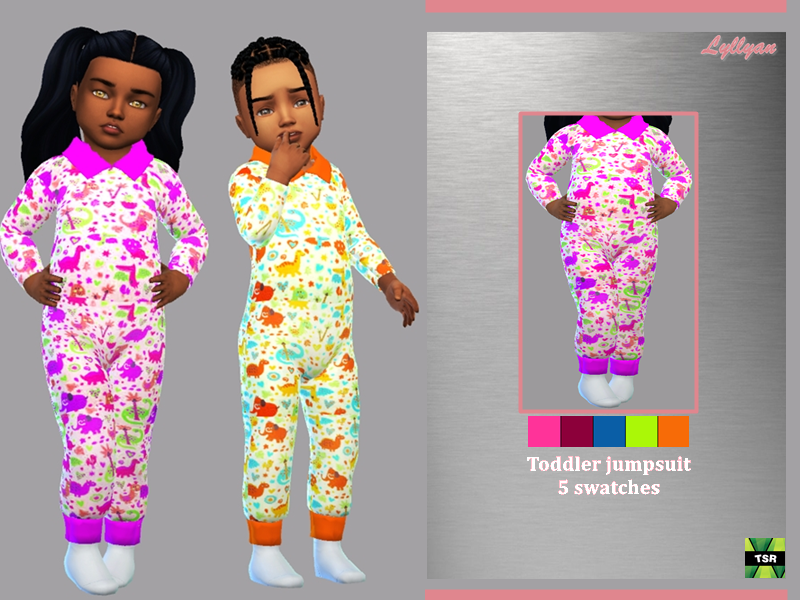 Sims 4 — Toddler jumpsuit Baby cool by LYLLYAN — Toddler jumpsuit 5 swatches New mesh