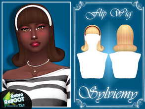 Sims 4 — Retro ReBOOT Flip Wig Set by Sylviemy — The Set included included RetroReBOOT Flip Wig Hair and Accessory