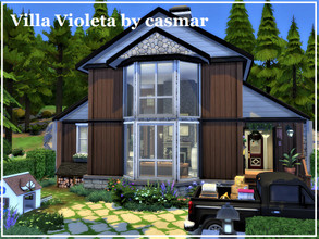 Sims 4 — Villa Violeta by casmar — Villa Violeta is a nice and cozy house. Built in wood and stone, this house is located