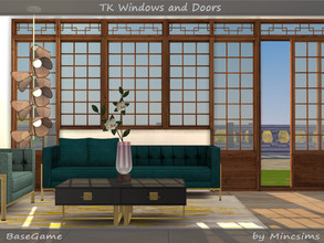 Sims 4 — TK Windows and Doors by Mincsims — This set was inspired by one of my favorite Korean dramas. Originally it