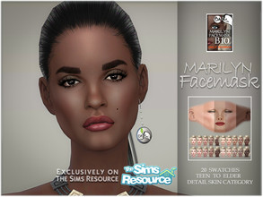 Sims 4 — Marilyn facemask by BAkalia — Hello :) Realistic facemask for female sims. It works like a non-default skin but