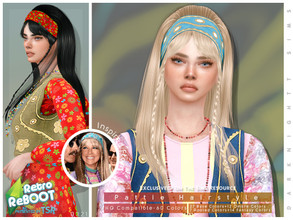 Sims 4 — Retro ReBOOT - Pattie Hairstyle Set by DarkNighTt — Retro ReBOOT - Pattie Hairstyle Set Includes 1 Hairstyle and