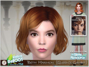 Sims 4 — Retro ReBOOT - Beth Harmon (Queen's Gambit) by BAkalia — Hello :) Elizabeth (Beth) Harmon is the main