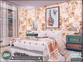 Sims 4 — Retro ReBOOT Florence Bedroom by Moniamay72 — Retro Florence Bedroom. Feel the beauty of those years. Size: 5x6