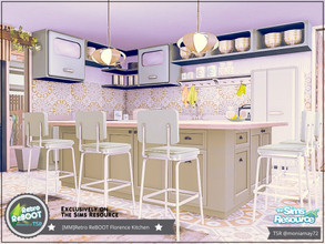 Sims 4 — Retro ReBOOT Florence Kitchen by Moniamay72 — Retro Florence Kitchen. Feel the beauty of those years. Size: 7x7