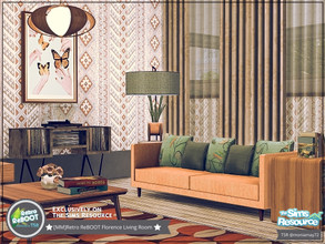 Sims 4 — Retro ReBOOT Florence Living Room by Moniamay72 — Retro Florence Living Room. Feel the beauty of those years.