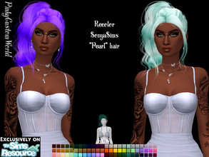 Sims 4 — Recolor of SonyaSims Pearl hair by PinkyCustomWorld — - Recolor in 72 different colors - Custom Thumbnail -