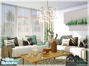 Sims 4 — TANNIA - Living Room by marychabb — I present a room - Living Room, that is fully equipped. Tested. Cost: 14.