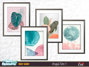 Sims 4 — Angel Kiss by evi — A four options watercolour paintings