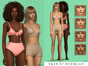Sims 4 — -Patreon- Skin N7 Overlay by -Merci- — Overlay Skin for female sims and it comes with 4 different intensity