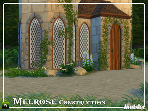 Sims 4 — Melrose Construction Part 1 by Mutske — These type of windows and doors are based on Gothic influences, but you