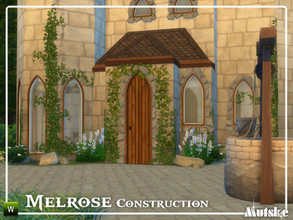 Sims 4 — Melrose Construction Part 2 by Mutske — These type of windows and doors are based on Gothic influences, but you