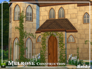 Sims 4 — Melrose Construction Part 3 by Mutske — These type of windows and doors are based on Gothic influences, but you
