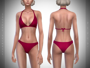 Sims 4 — Pipco - Juniper Swimsuit. by Pipco — 15 Swatches Base Game Compatible New Mesh All Lods Specular and Normal Maps