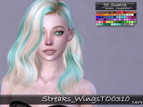 Sims 4 — [Ts4]Taty_Streaks_WingsTO0310 F by tatygagg — - This is a costume makeup which allows to add color streaks to