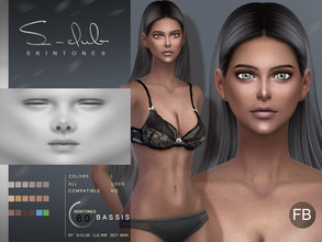 Sims 4 — S-Club ts4 WMLL BS 6.0 FB by S-Club — Skin overly, for female, version B, compatible all game original swatches,