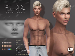 Sims 4 — S-Club ts4 WMLL BS 6.0 MB by S-Club — Skin overly, for man, version B, compatible all game original swatches,