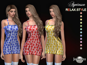 Sims 4 — Agniassa dress by jomsims — Agniassa dress dress sims 4 for her in 12 shades. little short spring dress with
