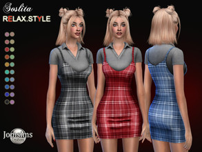 Sims 4 — Soslita dress by jomsims — Soslita dress Dress Sims 4 for her in 20 shades. little short dress with straps.