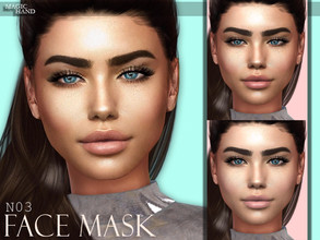 Sims 4 — [MH] Face Mask N03 by MagicHand — --7 swatches-- --Compatible with HQ settings-- --CAS thumbnail-- Combine with