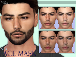 Sims 4 — [MH] Face Mask N04 by MagicHand — --7 swatches-- --Compatible with HQ settings-- --CAS thumbnail-- Combine with