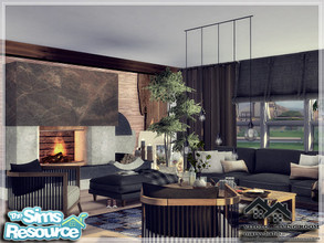 Sims 4 — VITOLD - Living Room by marychabb — I present a room - Living room, that is fully equipped. Tested. Cost:20,144