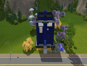 Sims 3 — TARDIS by RubyRed2020 — Iinspired by the series DR. Who Welcome to the Tardis Highlight Pool Kitchen, Dining,
