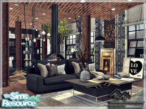 Sims 4 — KORTEZ - Living Room by marychabb — I present a room - Living room, that is fully equipped. Tested. Cost: 27,890