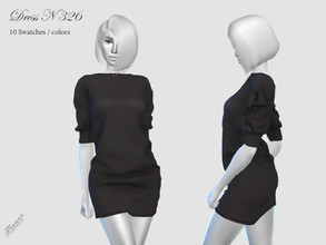Sims 4 — DRESS N 326 by pizazz — NEW MESH INCLUDED 10 COLOR SWATCHES Base Game