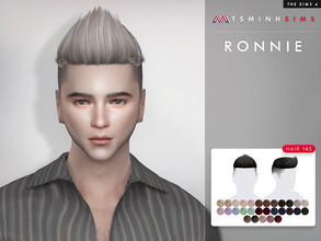 Sims 4 — Ronnie ( Hair 145 ) by TsminhSims — New meshes - 30 colors - HQ texture - Custom shadow map, normal map - All