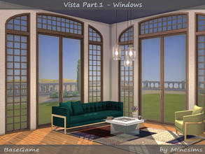 Sims 4 — Vista Set Part.1 - Windows by Mincsims — These are all for 4 tiles. It consists of 3 different patterns and